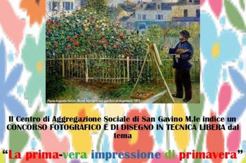 """""""La prima-vera impressione di primavera"""", concorso a premi del Centro di Aggregazione Sociale"""